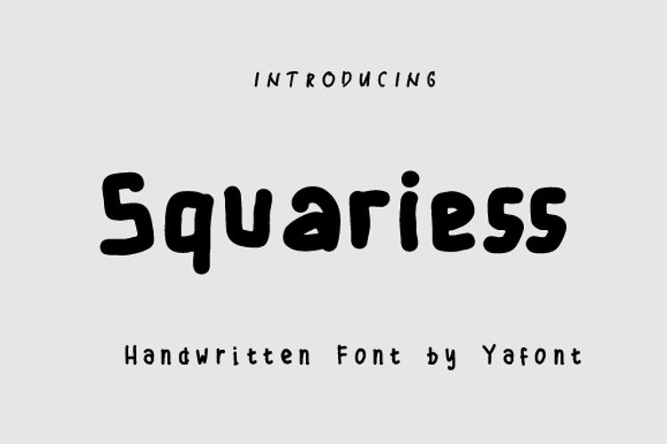 Squaress Font