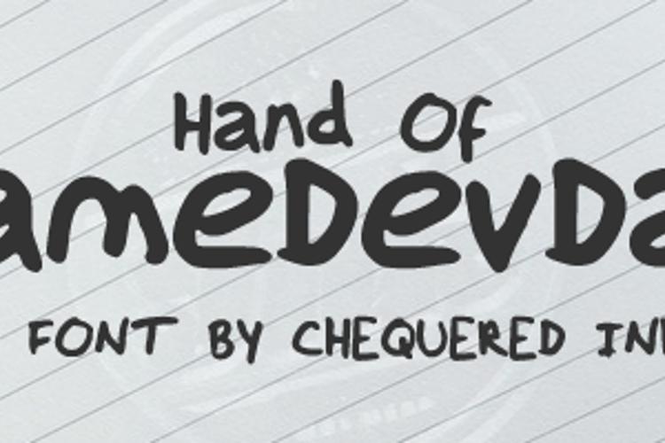Hand Of GameDevDan Font