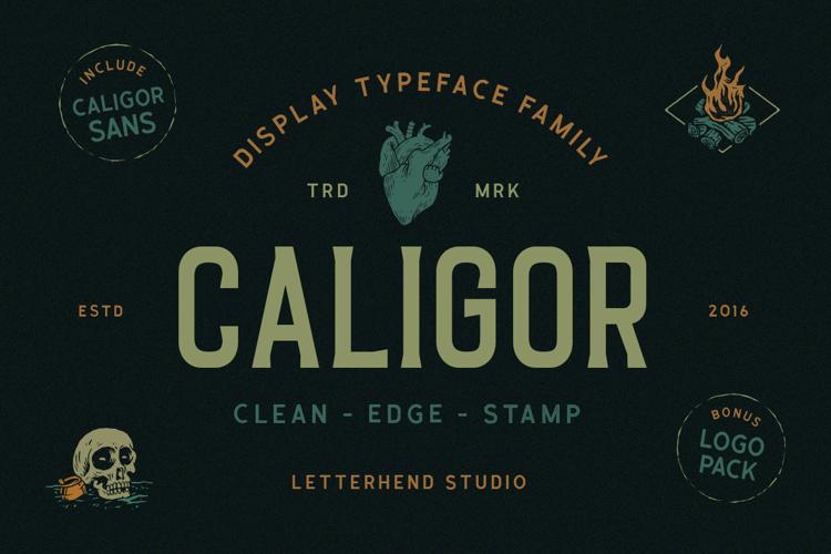 Caligor Clean Font