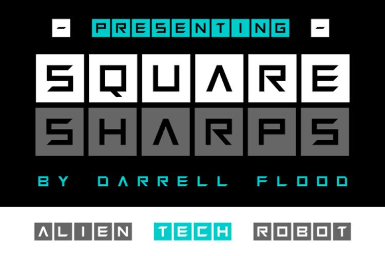 Squaresharps Font