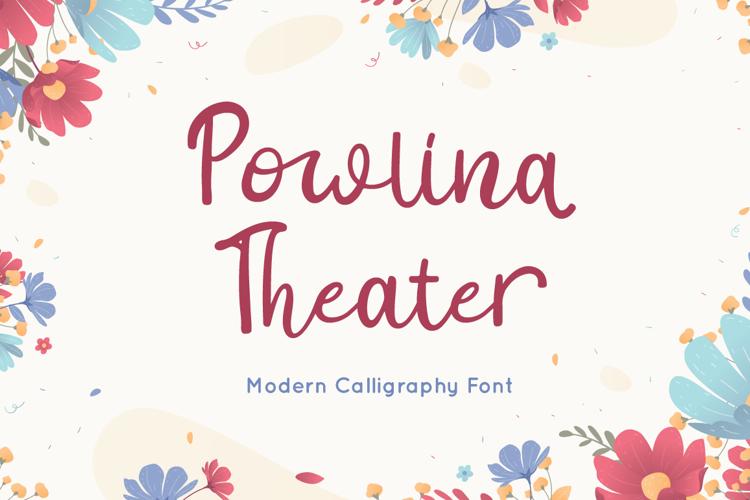 Powlina Theater Font