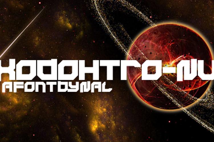 Xodohtro-Nu Font