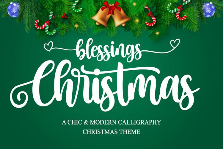 Christmas Blessings Font