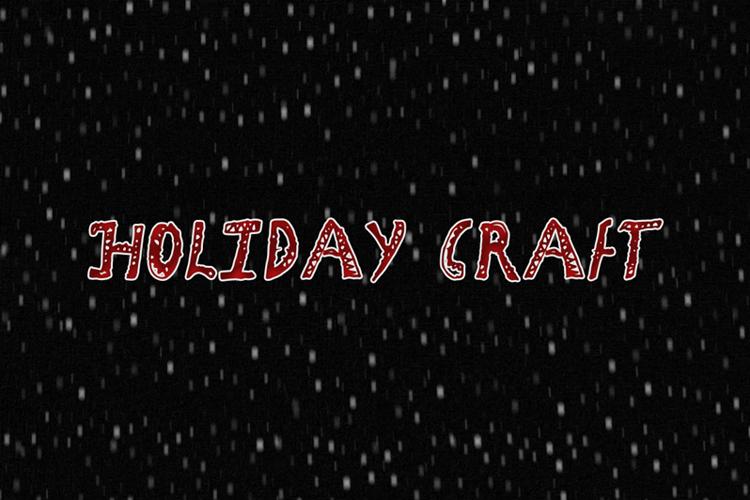 Holiday Craft Font