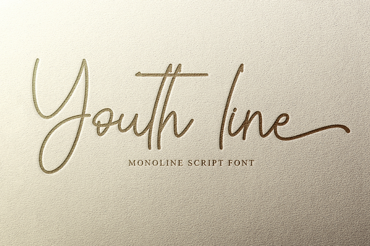 Youth line Font