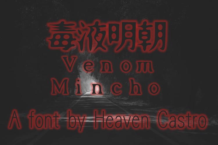 Venom Mincho Font