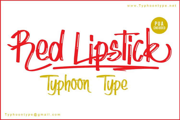Red Lipstick Font