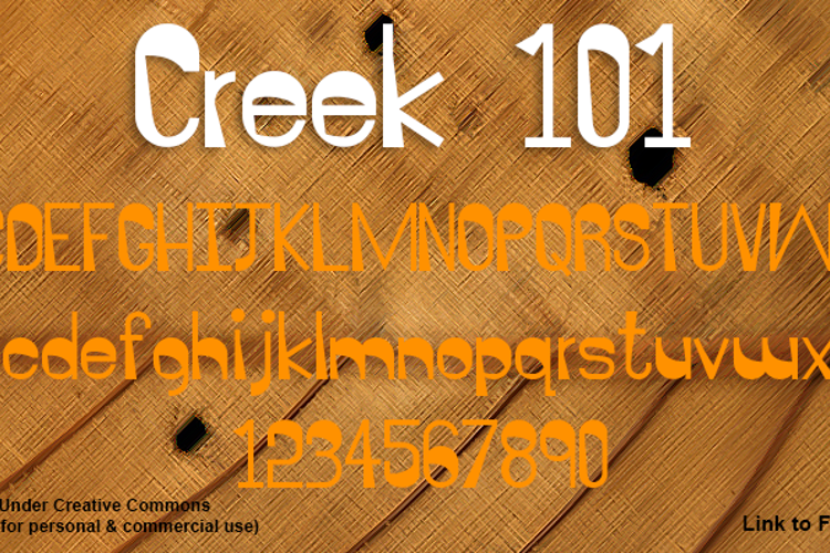 Creek 101 Font