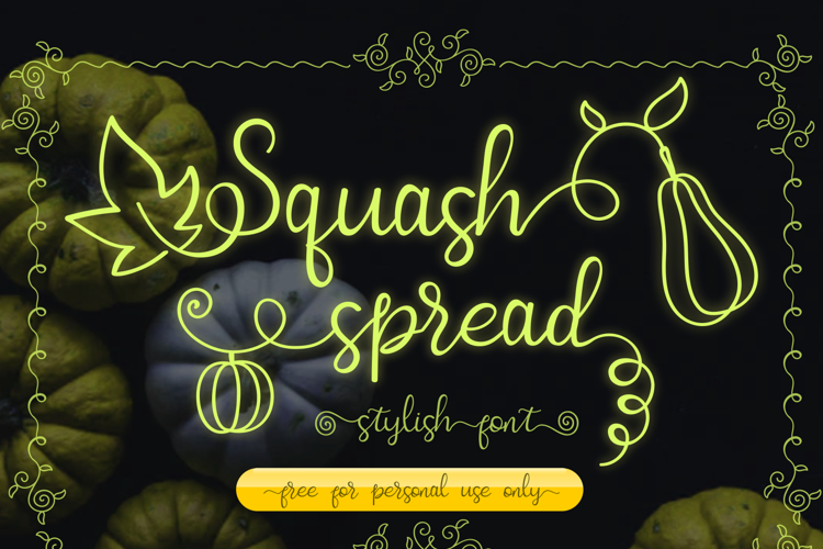 Squash Spread Font