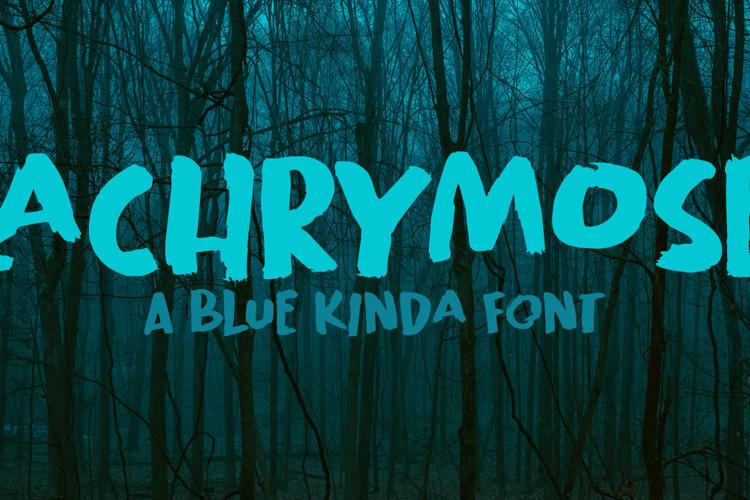 Lachrymose Font