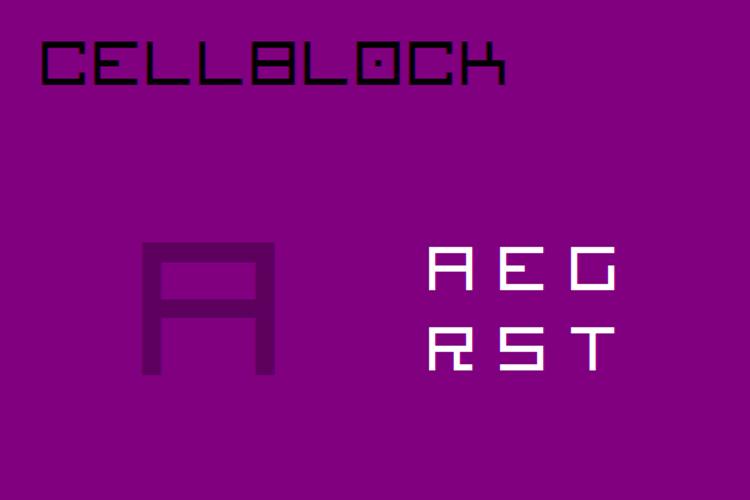 Cellblock NBP Font