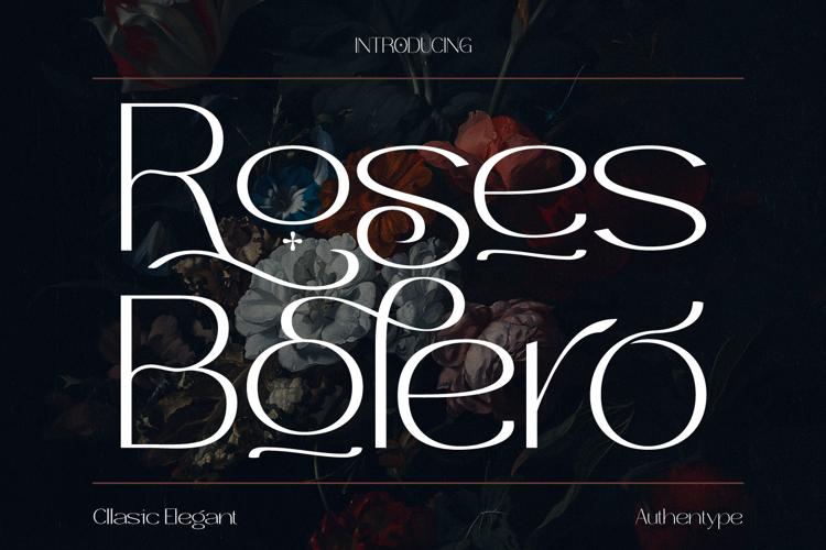 Roses Bolero Font