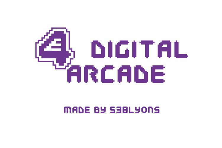 E4 Digital Arcade Font