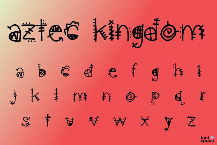 aztec kingdom Font