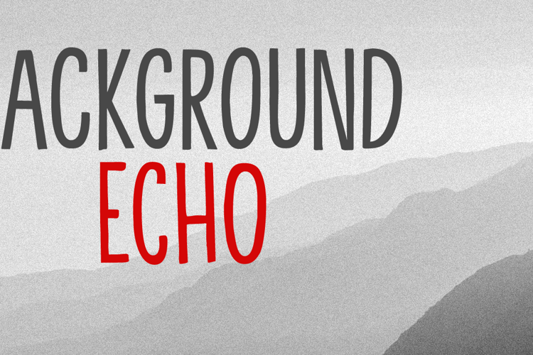 Background Echo Font