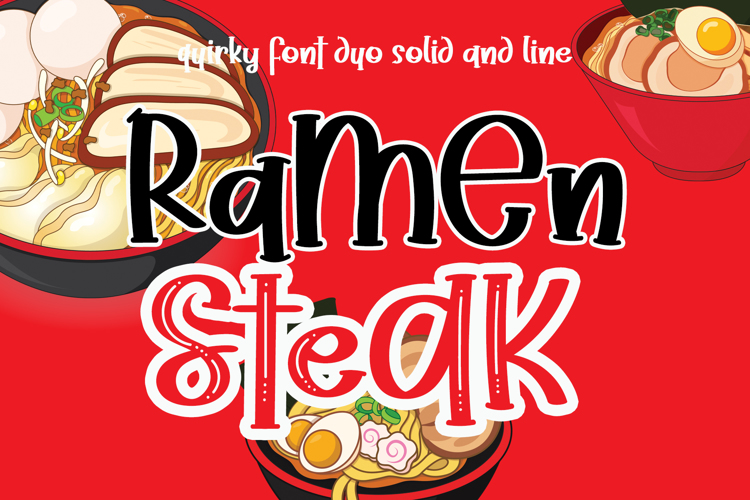 Ramen Steak Font
