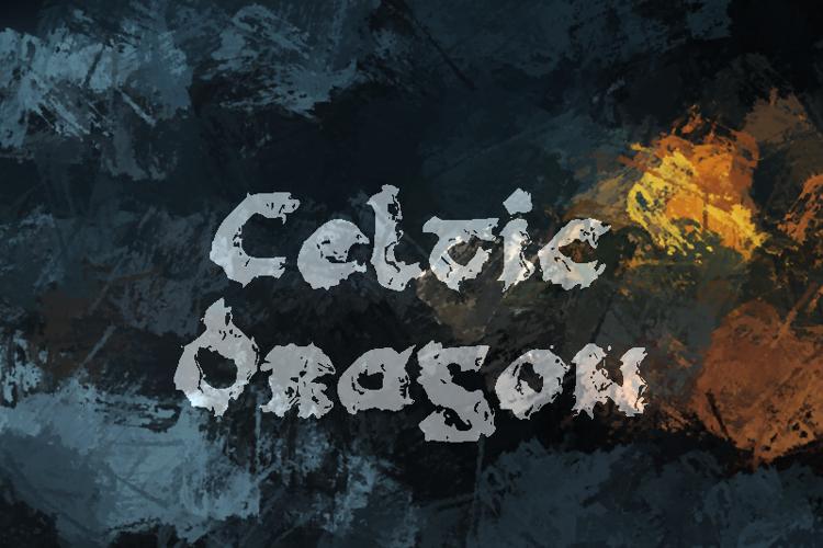 c Celtic Dragon Font