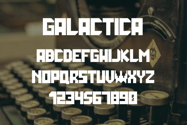 Galactica Grid Font