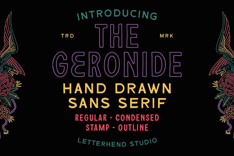 Geronide Regular Demo Font