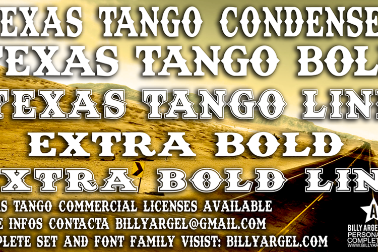 Texas Tango BOLD Font