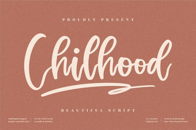 Chilhood Font