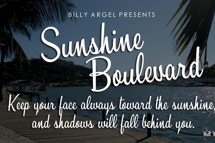 Sunshine Boulevard Font