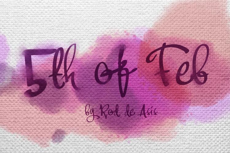 Fifth Of Feb Font