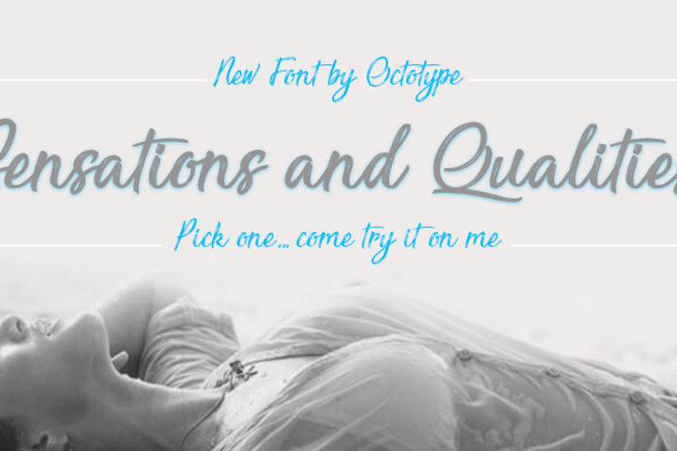 Sensations and Qualities Font