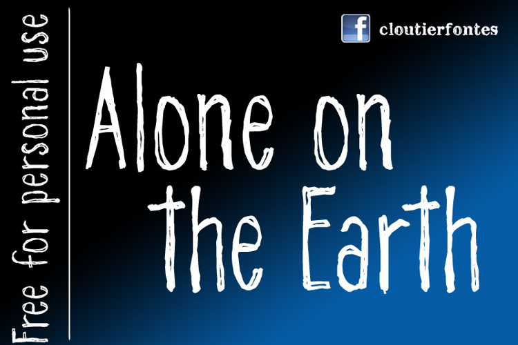 CF Alone on the Earth DEMO Font