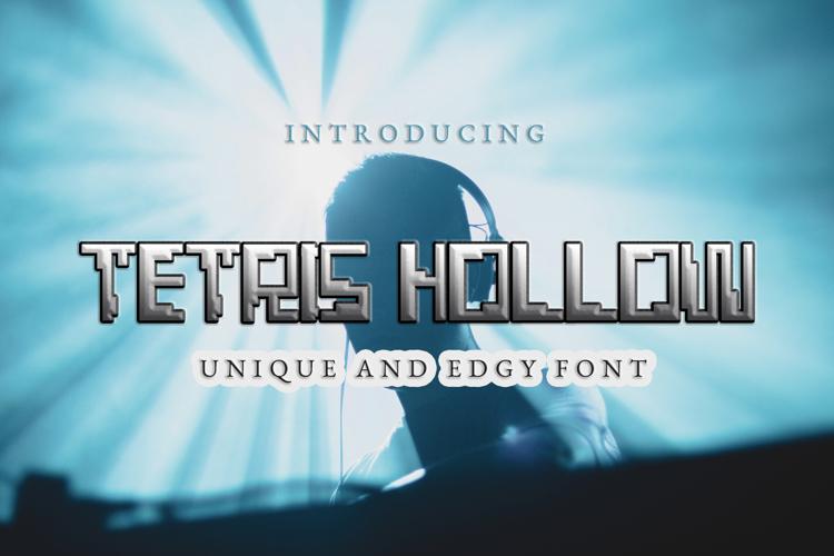 Tetris Hollow Font