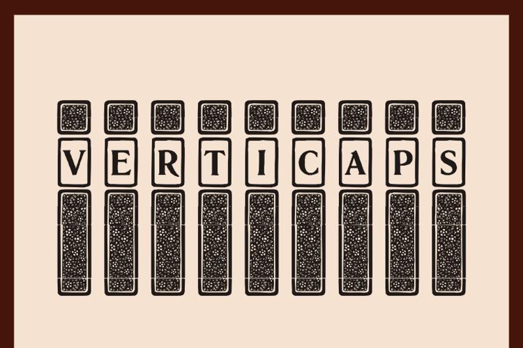 VertiCaps Font