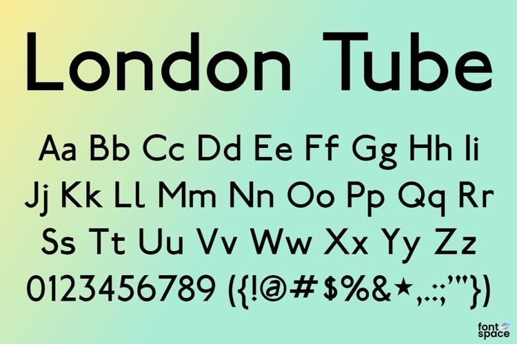 London Tube Font