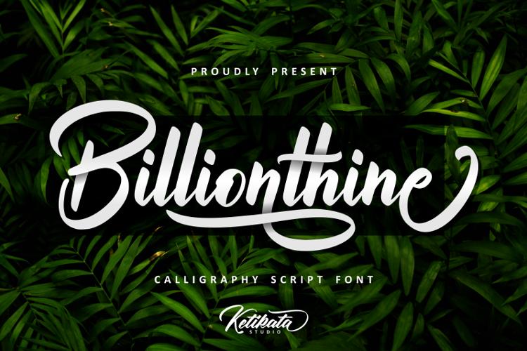 Billionthine Font