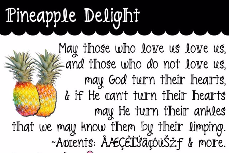 Pineapple Delight Font