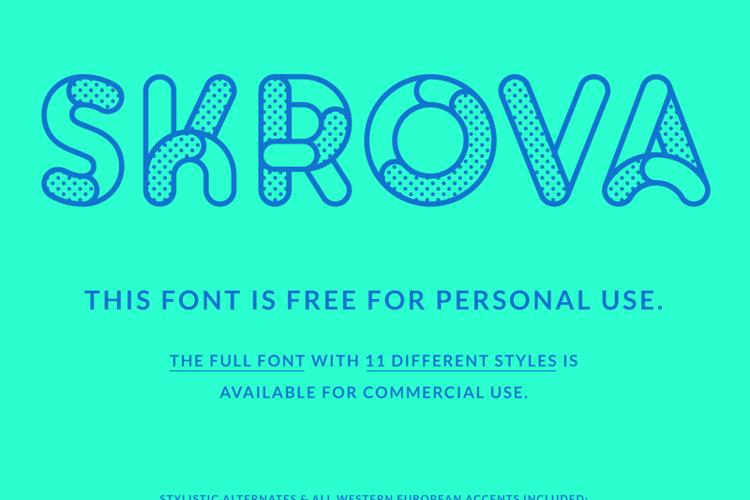 Skrova Parts Font