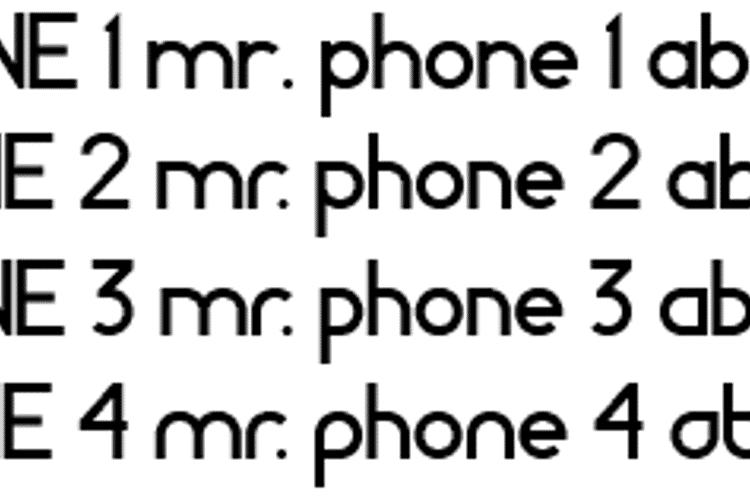 MR. PHONE Font