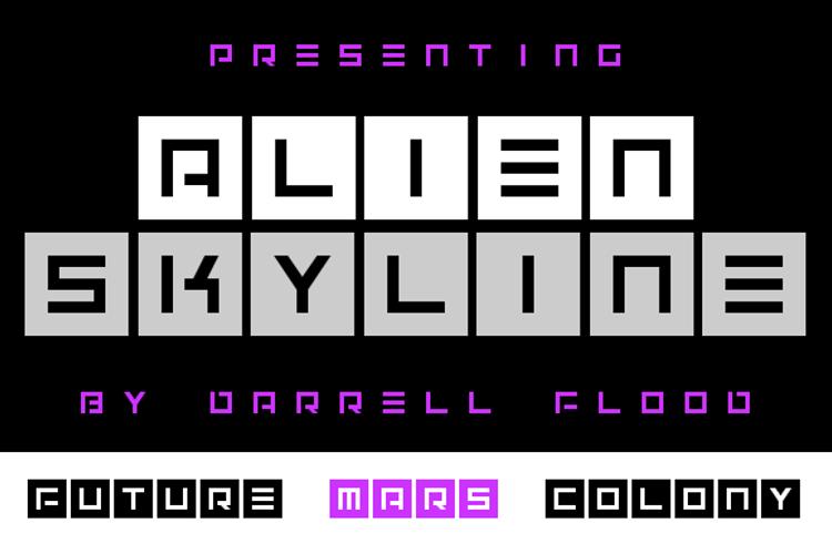Alien Skyline Font