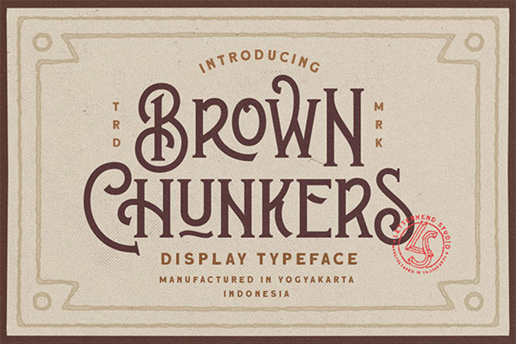 Brown Chunkers Font