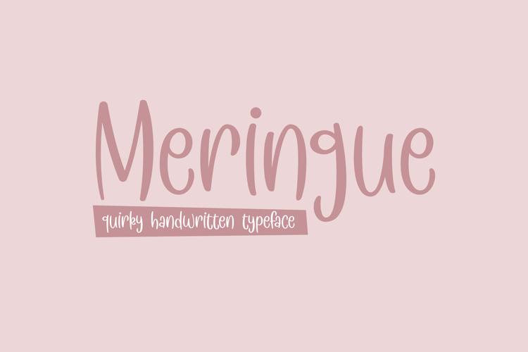 Meringue Font