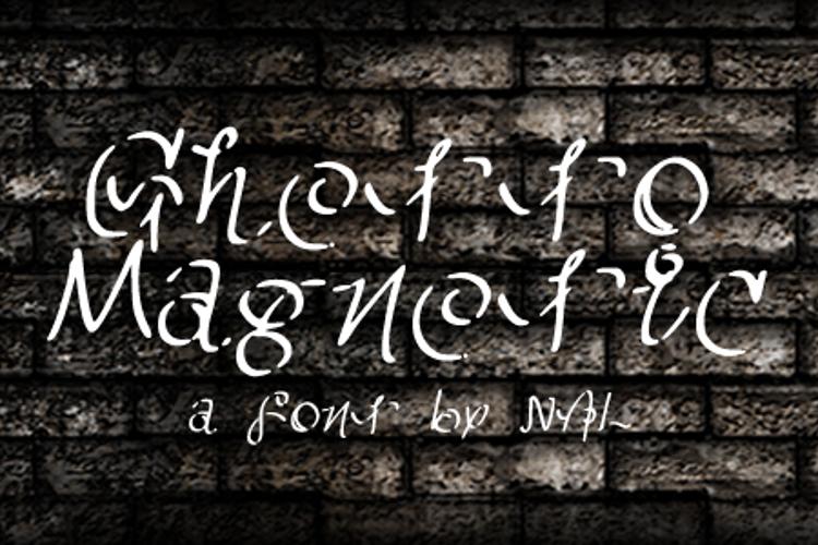 GhettoMagnetic Font