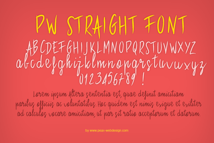 PWStraight Font