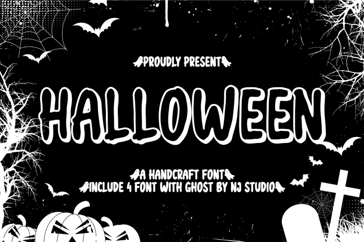 halloween black Font