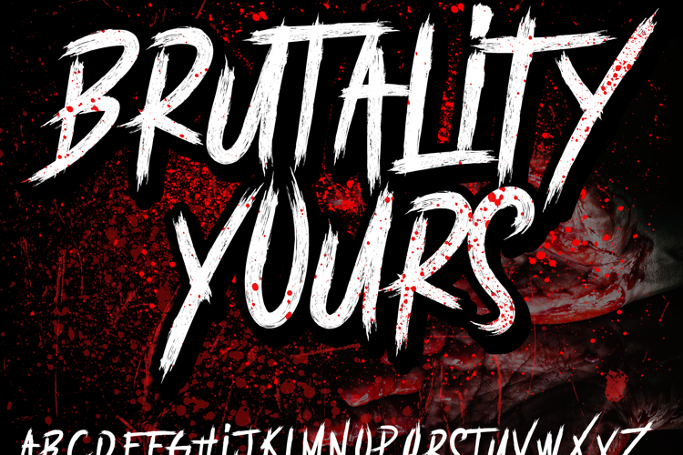 BRUTALItY YOURS  DEMO Font