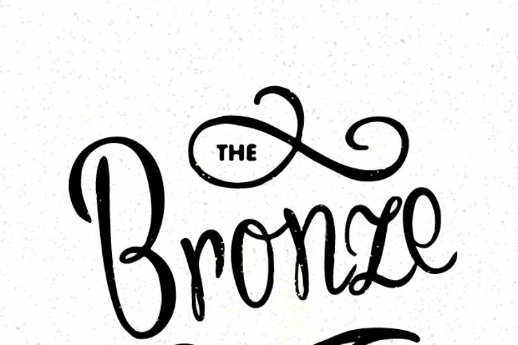 Bronze Script Font