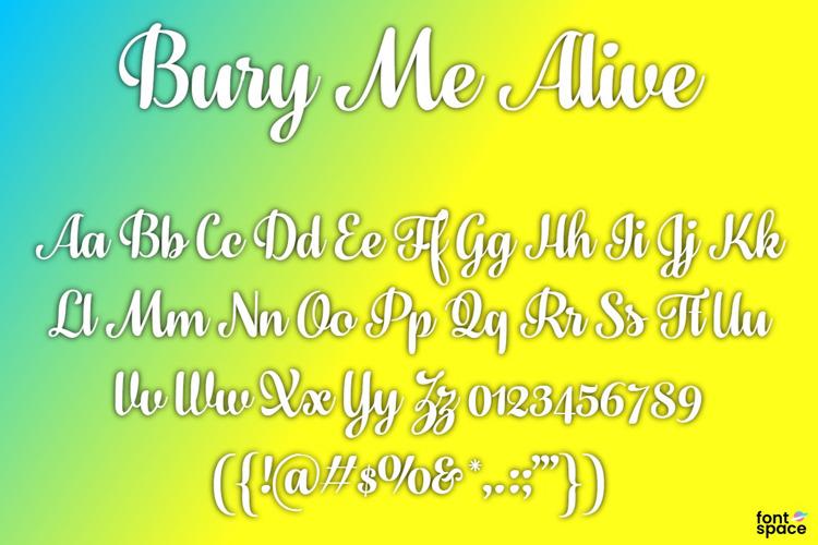 Bury Me Alive Font