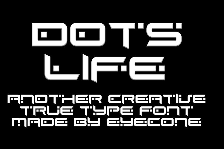 EC Dots Life Font