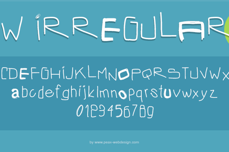 PWIrregular2 Font