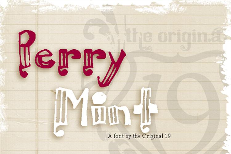 Perrymint Font