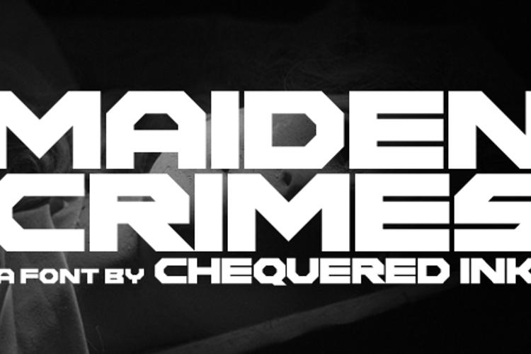 Maiden Crimes Font