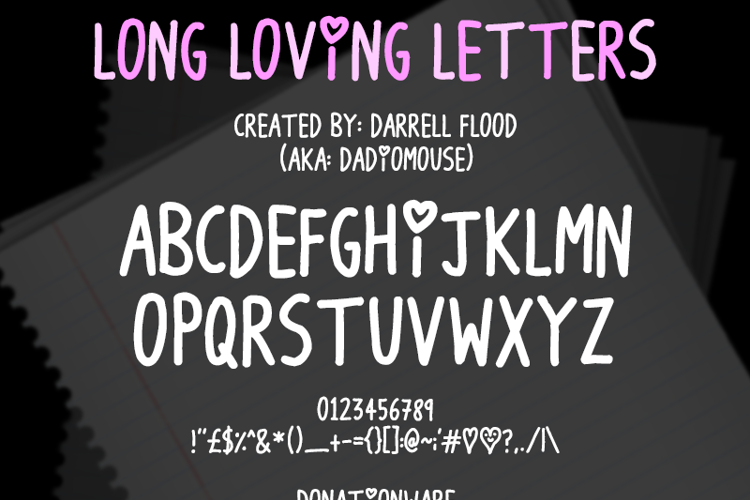 Long Loving Letters Font